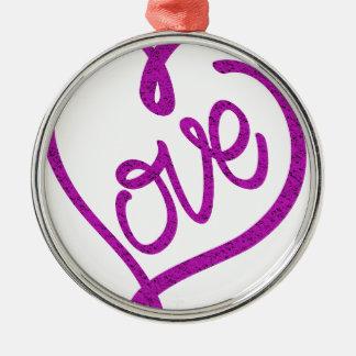 Ornamento De Metal refrigere o design bonito do amor