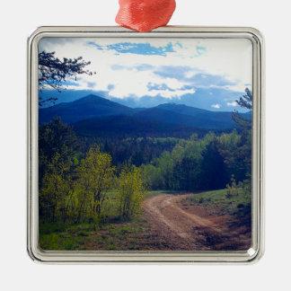 Ornamento De Metal Região selvagem de montanha rochosa
