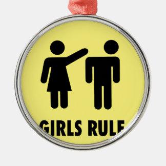 Ornamento De Metal Regra das meninas