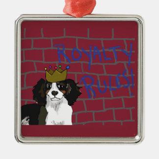 Ornamento De Metal Regras dos direitos - rei Cavalier Quadrado