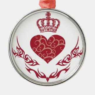 Ornamento De Metal Rei do coração