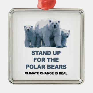 Ornamento De Metal Represente acima os ursos polares