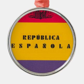 Ornamento De Metal República da bandeira da espanha - bandera