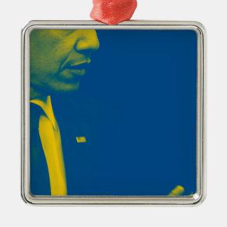 Ornamento De Metal Retrato do presidente Barack Obama 38d