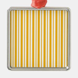 Ornamento De Metal Riscas da laranja do sorvete