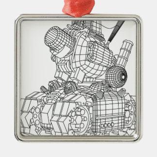 Ornamento De Metal robot-2