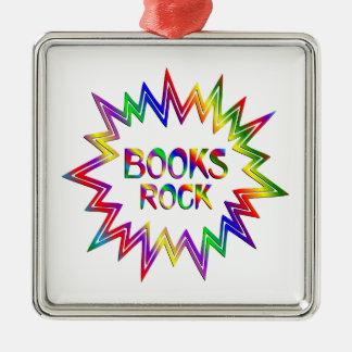 Ornamento De Metal Rocha dos livros