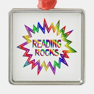 Ornamento De Metal Rochas da leitura