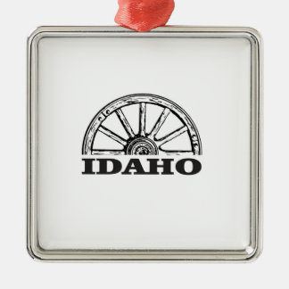 Ornamento De Metal Roda de vagão de Idaho