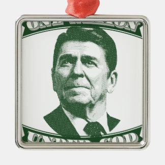 Ornamento De Metal Ronald Reagan uma nação sob o deus
