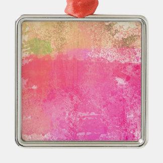 Ornamento De Metal Rosa abstrato da aguarela do Grunge