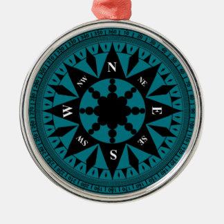 Ornamento De Metal Rosa de compasso #2