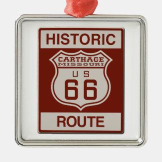 Ornamento De Metal Rota 66 de Carthage