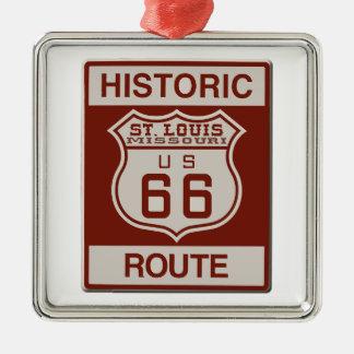 Ornamento De Metal Rota 66 de St Louis