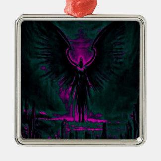 Ornamento De Metal Roxo angélico e cerceta do guardião