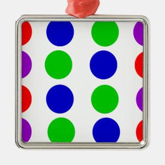 Ornamento De Metal Roxo vermelho do verde azul do design do círculo