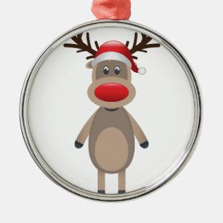 Ornamento De Metal Rudolf o design bonito do Natal da rena