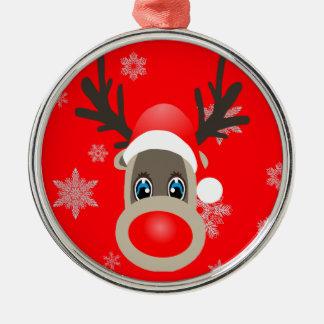 Ornamento De Metal Rudolf - rena do Natal