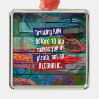 Ornamento De Metal Rum do bebendo antes que 10 am lhe fizerem um