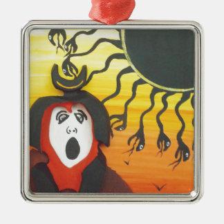 Ornamento De Metal Sacrifício ao deus de cobra solar