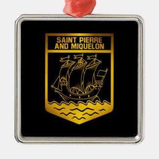 Ornamento De Metal Saint Pierre e emblema de Miquelon