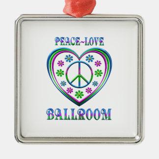Ornamento De Metal Salão de baile do amor da paz