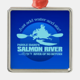 Ornamento De Metal Salmon River (azul)