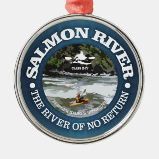 Ornamento De Metal Salmon River (c)