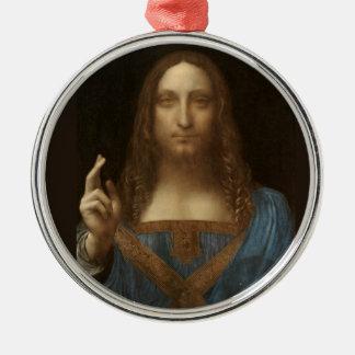 Ornamento De Metal Salvator Mundi por Leonardo da Vinci cerca de 1500