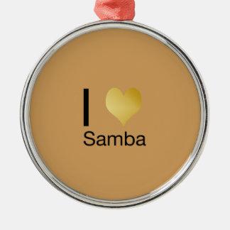 Ornamento De Metal Samba Playfully elegante do coração de I