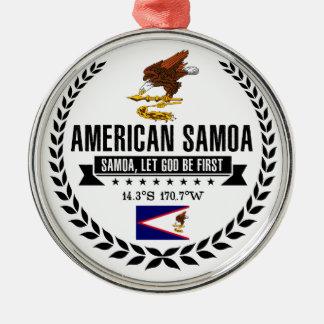 Ornamento De Metal Samoa Americanas