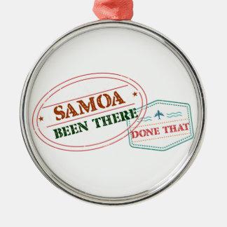 Ornamento De Metal Samoa feito lá isso