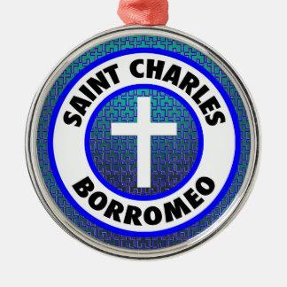 Ornamento De Metal Santo Charles Borromeo