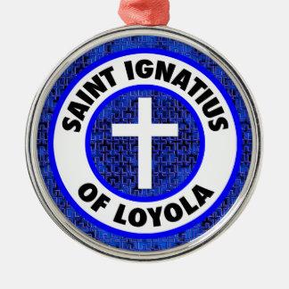 Ornamento De Metal Santo Ignatius de Loyola