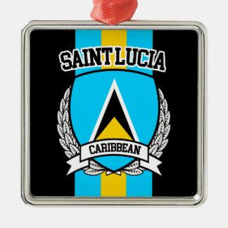 Ornamento De Metal Santo Lucia