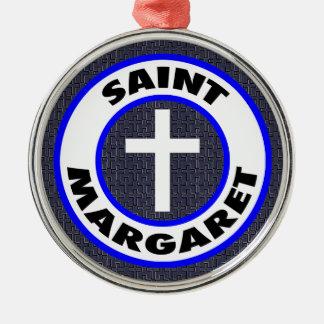 Ornamento De Metal Santo Margaret