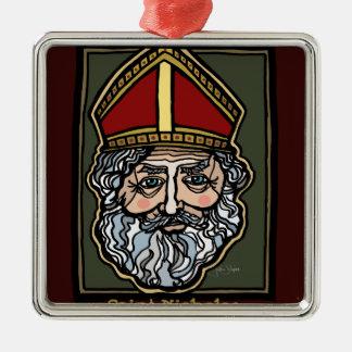 Ornamento De Metal Santo Nicholas