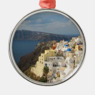 Ornamento De Metal Santorini na tarde Sun