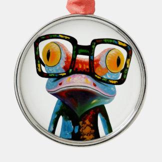 Ornamento De Metal Sapo dos vidros do hipster