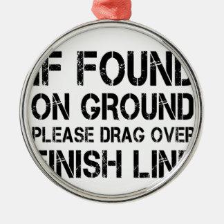 Ornamento De Metal Se encontrado na terra arraste por favor sobre o