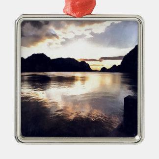 Ornamento De Metal Seascape de Icmeler