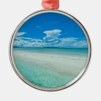 Ornamento De Metal Seascape tropical azul, Palau