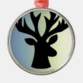 Ornamento De Metal Seja sombra brava da cabeça dos cervos