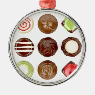 Ornamento De Metal Seleção de doces de chocolate