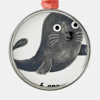 Ornamento De Metal Selo de aprovação