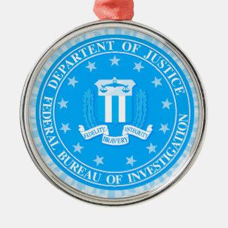 Ornamento De Metal Selo do FBI no azul