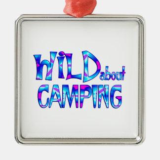 Ornamento De Metal Selvagem sobre o acampamento