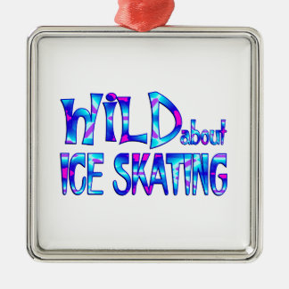 Ornamento De Metal Selvagem sobre o patinagem no gelo