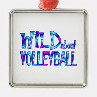 Ornamento De Metal Selvagem sobre o voleibol