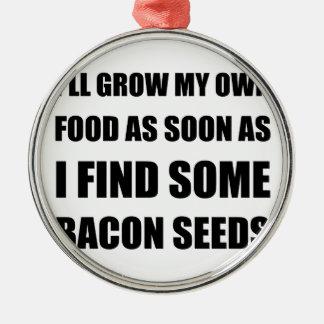 Ornamento De Metal Sementes do bacon